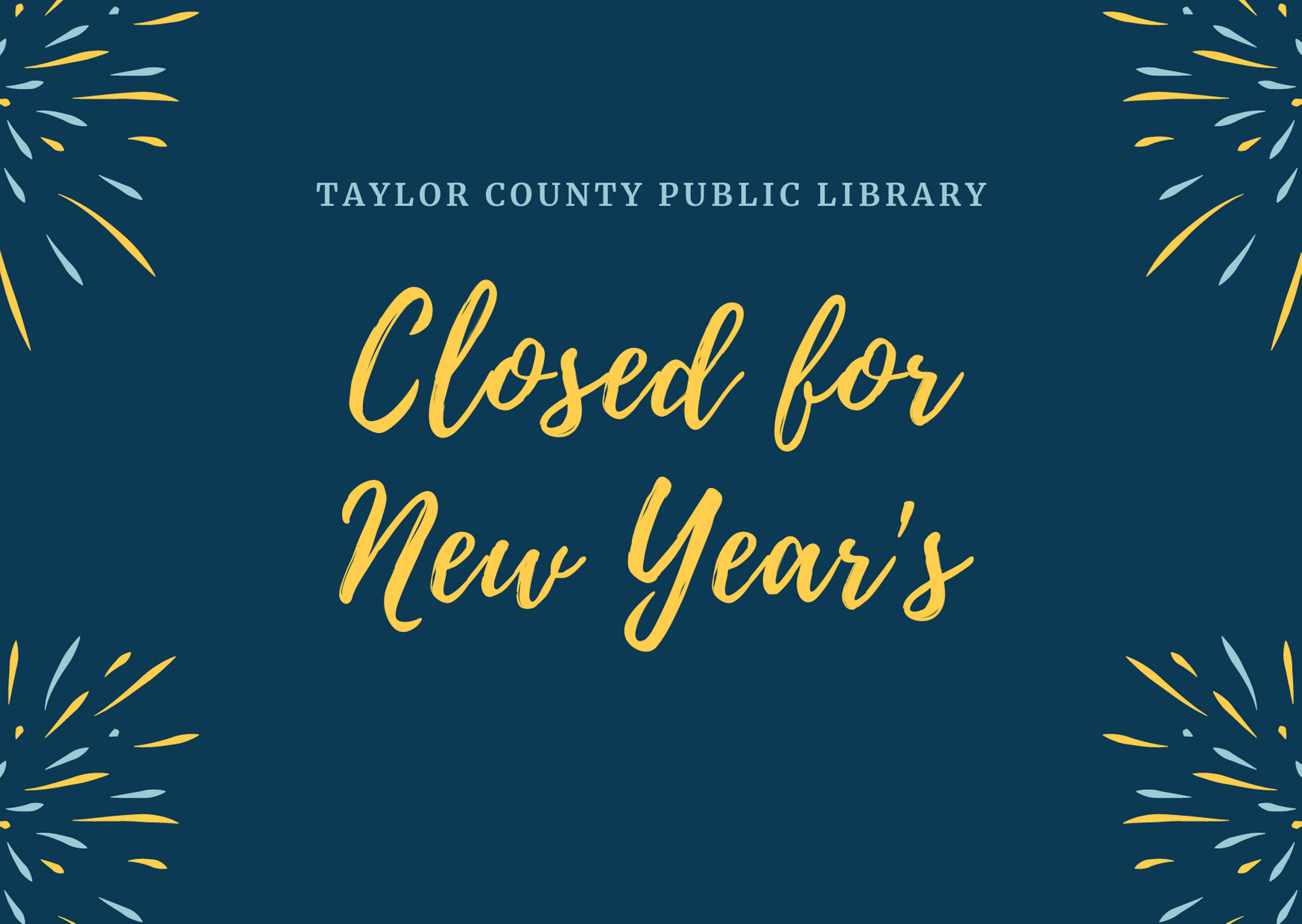 Closed for New Year