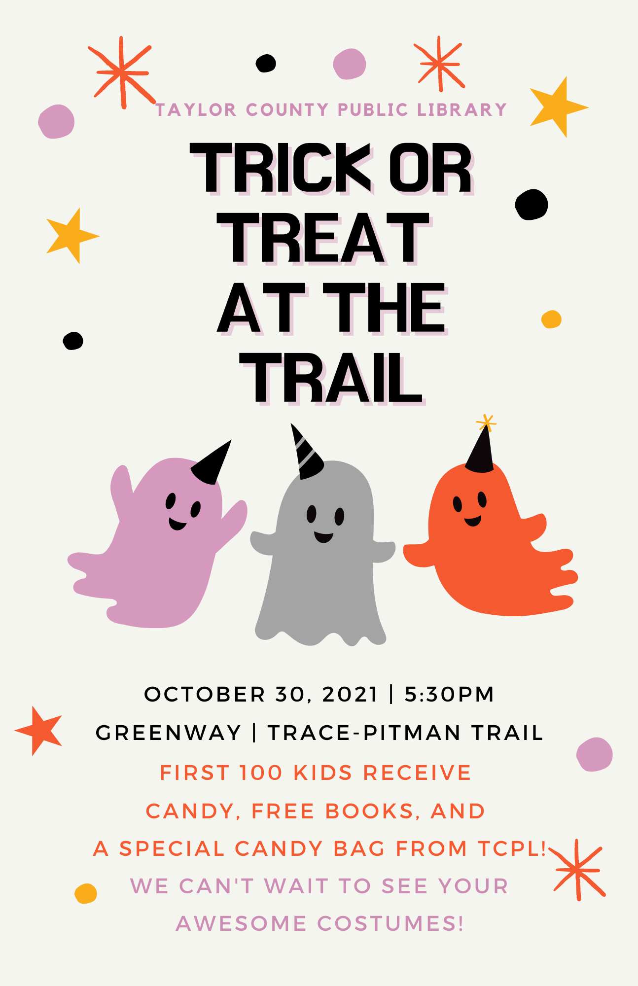 Trick or Treat at the Trail